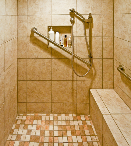 Aging in place bathrooms home ideas for eldery seniors for Aging in place home plans