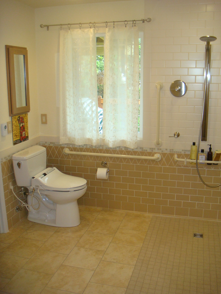 Howard chermak elderly parents bathroom remodel aging for Bathroom designs elderly