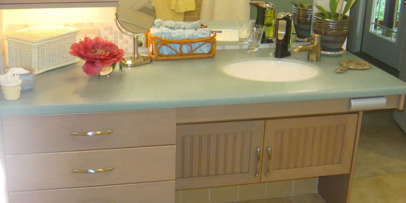 Accessible Bathroom Counters - Handicap bathroom sink cabinets