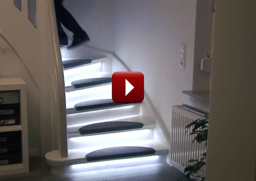 automatic stair lighting home automation for aging in place. Black Bedroom Furniture Sets. Home Design Ideas